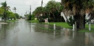 Flooded street in Holmes Bea