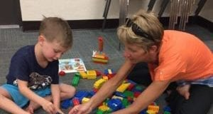 Legos at the Island Branch Library