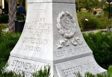 Confederate memorial - Stonewall Jackson, Jefferson Davis