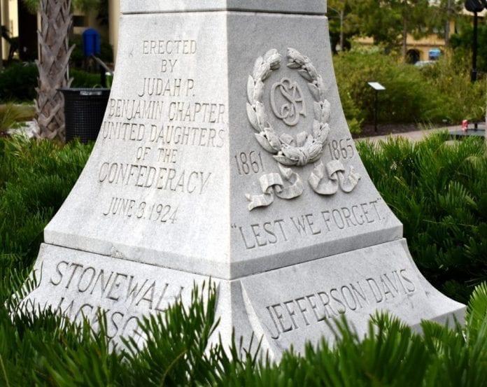 Confederate memorial - Stonewall Jackson, Jefferson Davis