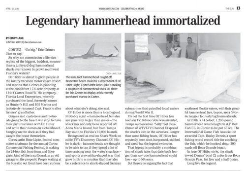 Legendary hammerhead immortalized 042716