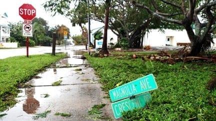 Anna Maria sign post-Irma