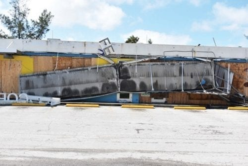 Cortez Fish Market damage post-Irma