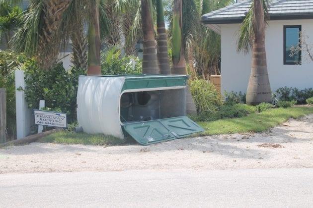 Irma topples toilet