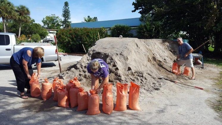 Sand bags pre-Irma