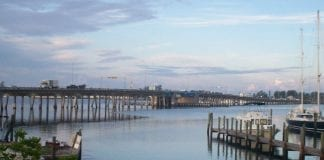 Cortez bridge looking east