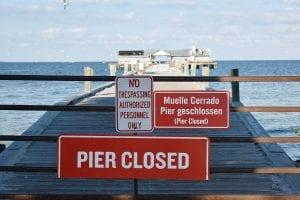Anna Maria Pier Closed
