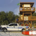 Coquina Beach lifeguard stand