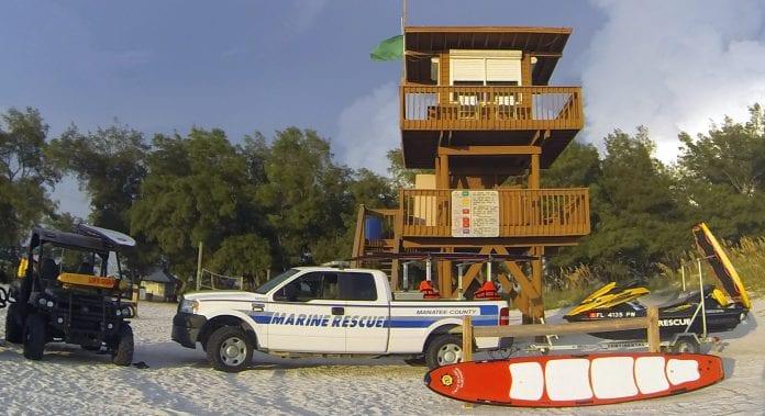 Coquina Beach lifeguard stand