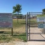 Holmes Beach dog park entrance