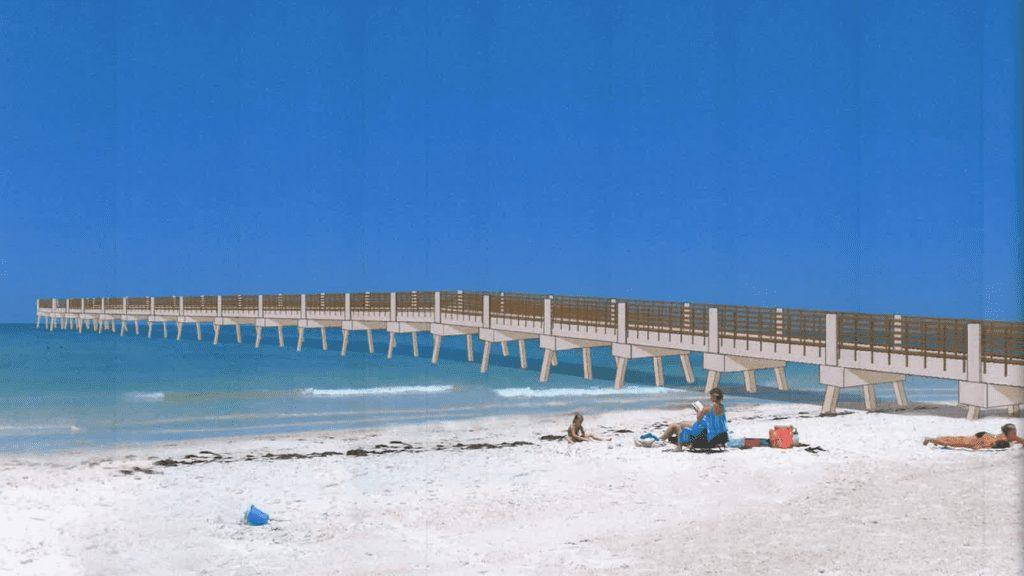 Holmes Beach Manatee pier long