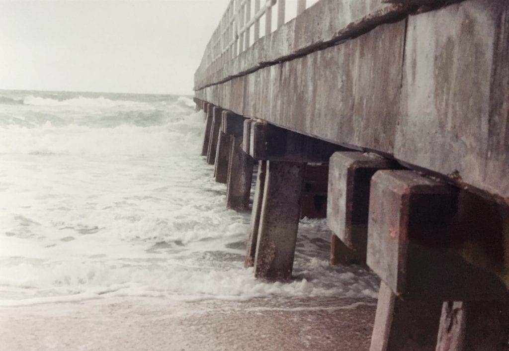 Holmes Beach Manatee pier underside