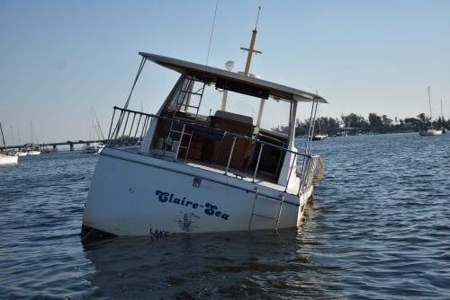 Bradenton Beach boats sunke