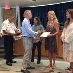 Holmes Beach surf shop fire award Mayor