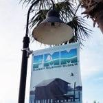 Florida Maritime Museum lamp post