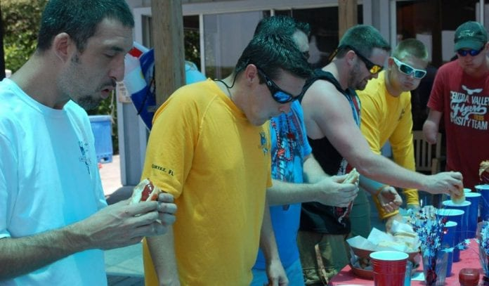 Fourth of July hot dog contest