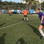 Center adult soccer girls