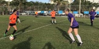 Center adult soccer girls
