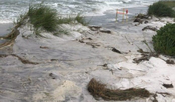 beach storm damage