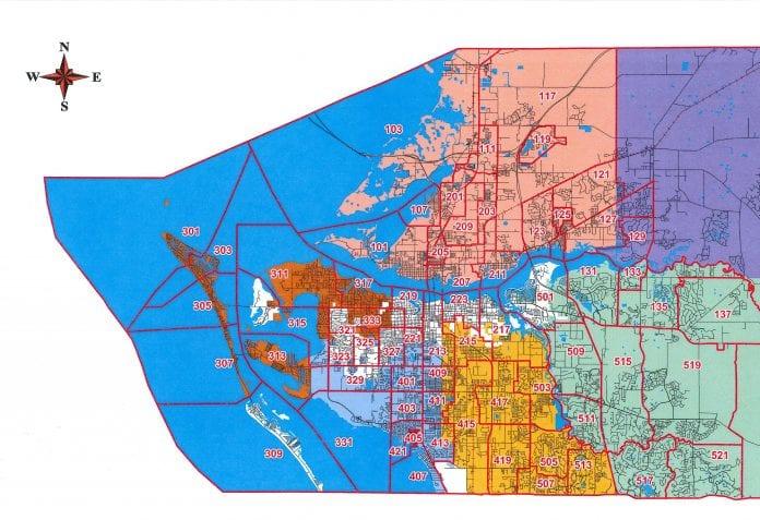 WMFR merger district map