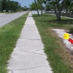 Holmes Beach bike path 10 feet