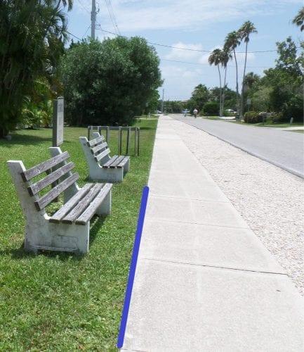 Holmes Beach bike path bus stop