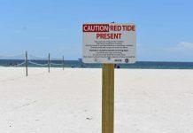 Red tide sign