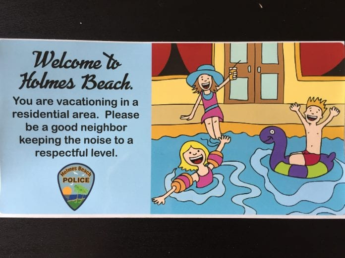 Holmes Beach nuisance pool sticker
