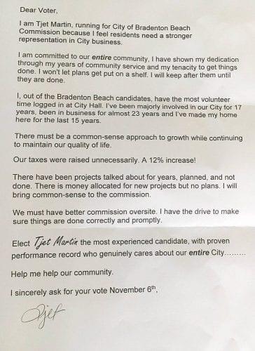 Martin Campaign Letter