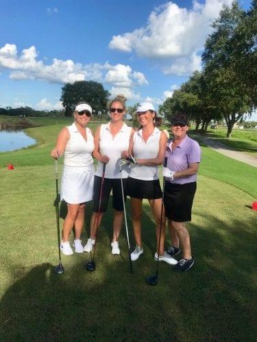 center golfing girls waterfront team