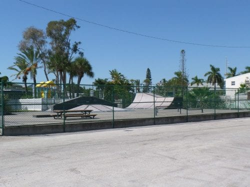 Holmes Beach city field skate park