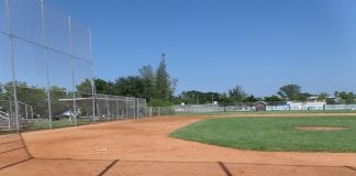Holmes Beach city field third base