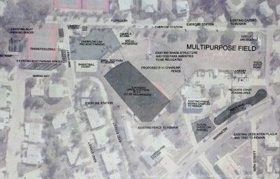 Holmes Beach city field update map