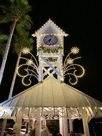 Christmas on Bridge Street clock tower