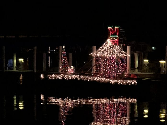 Bradenton Beach Christmas on Bridge Street Winning boat
