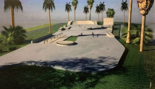 Holmes Beach skate park Marina Drive