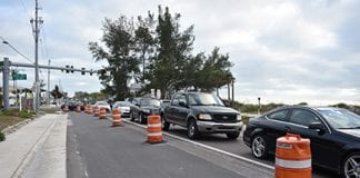 Bradenton Beach paving delays