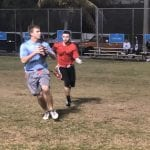 Adult gridiron action at the Center