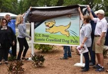 Dog park renamed in Laurie Crawford's honor