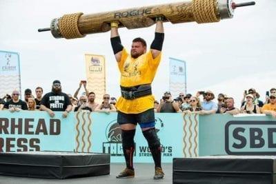 Strong man winner