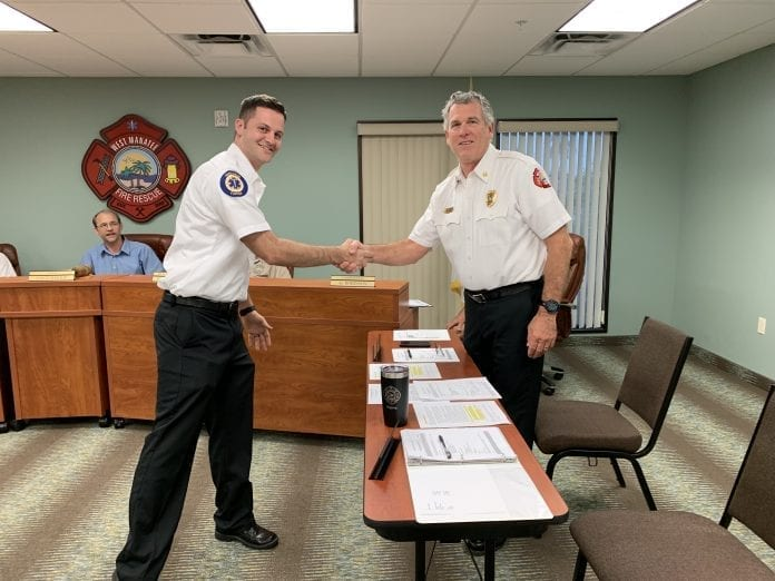 Board accepts new fire chief contract