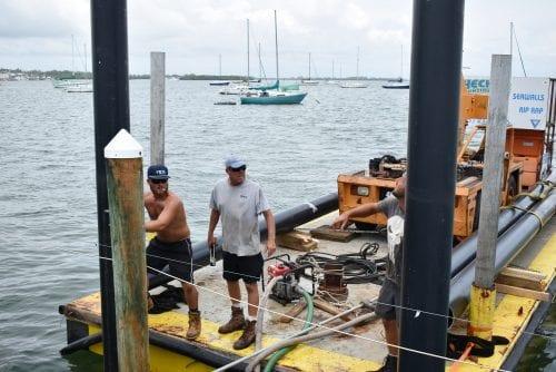 Bradenton Beach floating dock workers