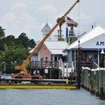 Floating dock installation begins