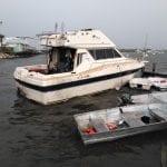 Vessels break free, threaten new dock