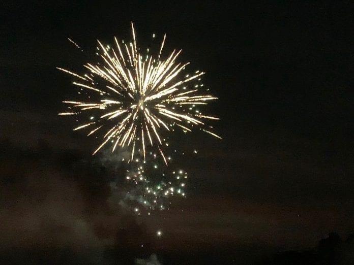 Surprise - more fireworks tonight!