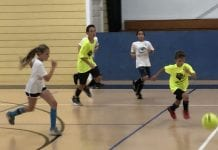 Youth indoor soccer teams battle at The Center
