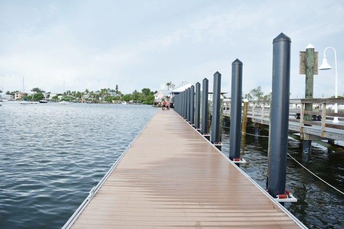 Bradenton Beach's new floating dock now in use