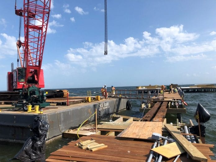 City Pier repairs temporarily delayed