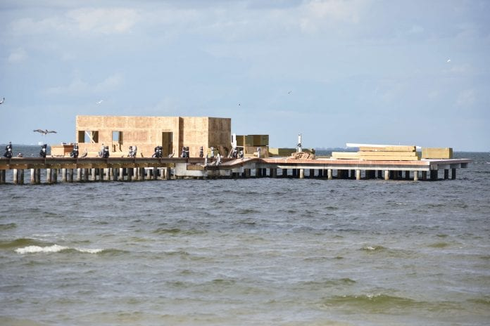 Construction begins on pier buildings