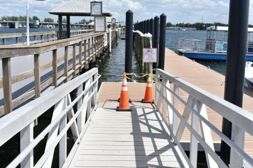 Floating dock temporarily closed